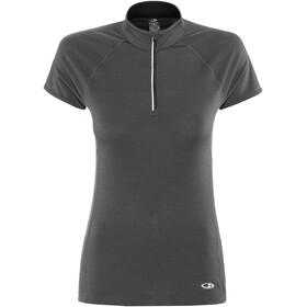 Icebreaker Comet Lite SS Half Zip Shirt Women monsoon/black